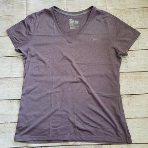 NIKE dri-fit v-neck athletic workout tee XL